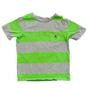 Gap Kids Green Striped Pocket T-Shirt
